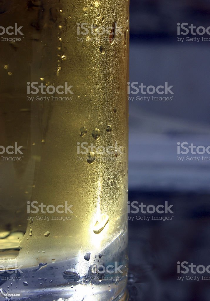 Condensation on Beer royalty-free stock photo