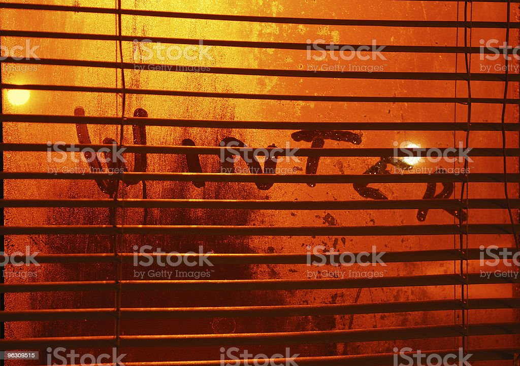 Condensation on window. stock photo