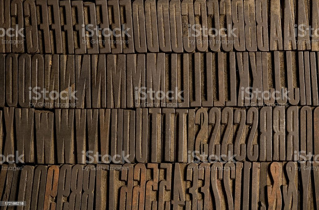 Condensed Wood Type royalty-free stock photo