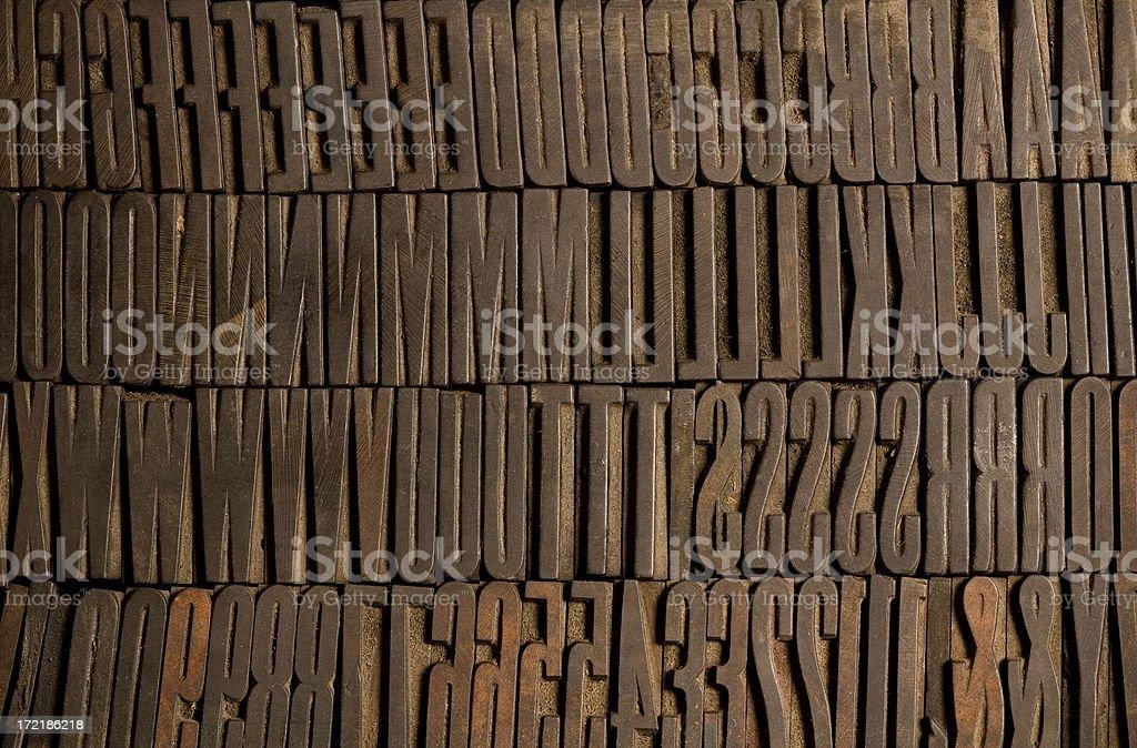 Condensed Wood Type stock photo