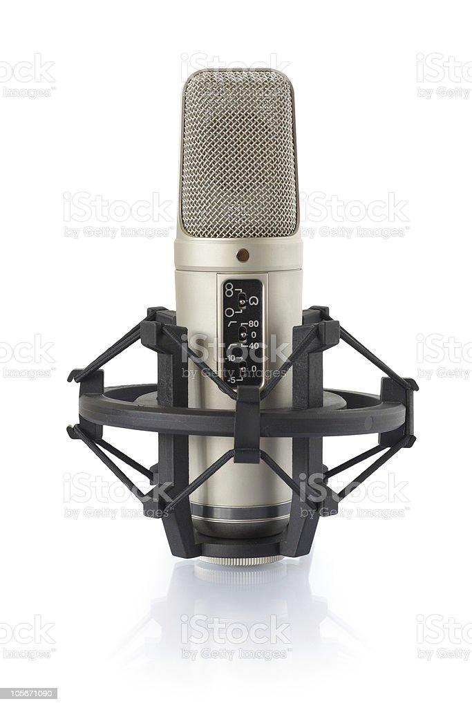 Condenser microphone in holder stock photo