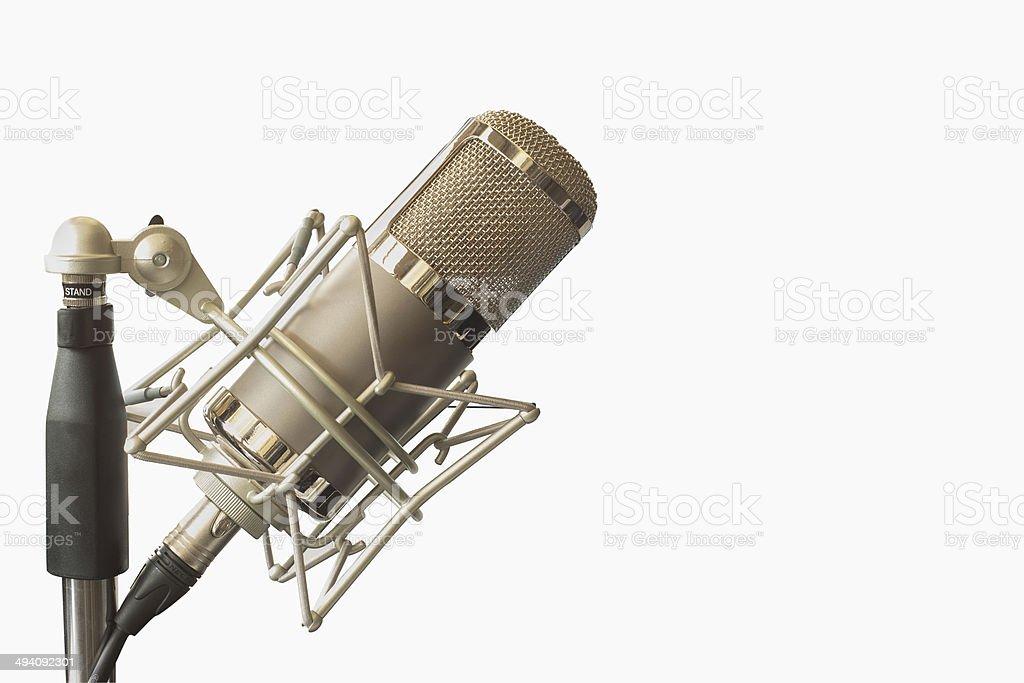 Condenser microphone stock photo