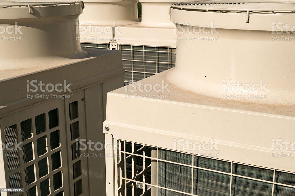 Condensing units stock photo