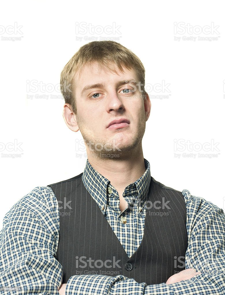 Condescending man royalty-free stock photo