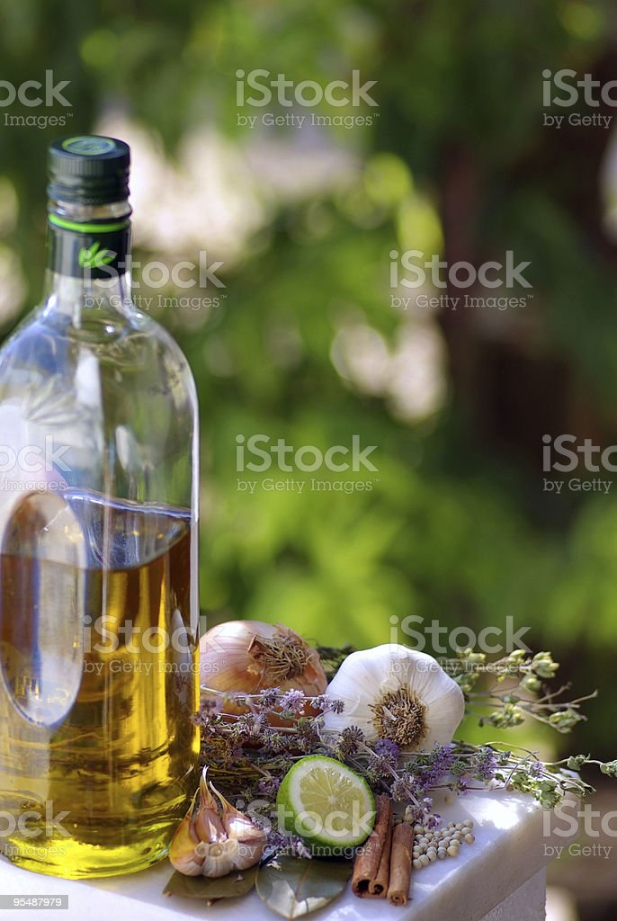 Condiments of Portuguese Cuisin royalty-free stock photo