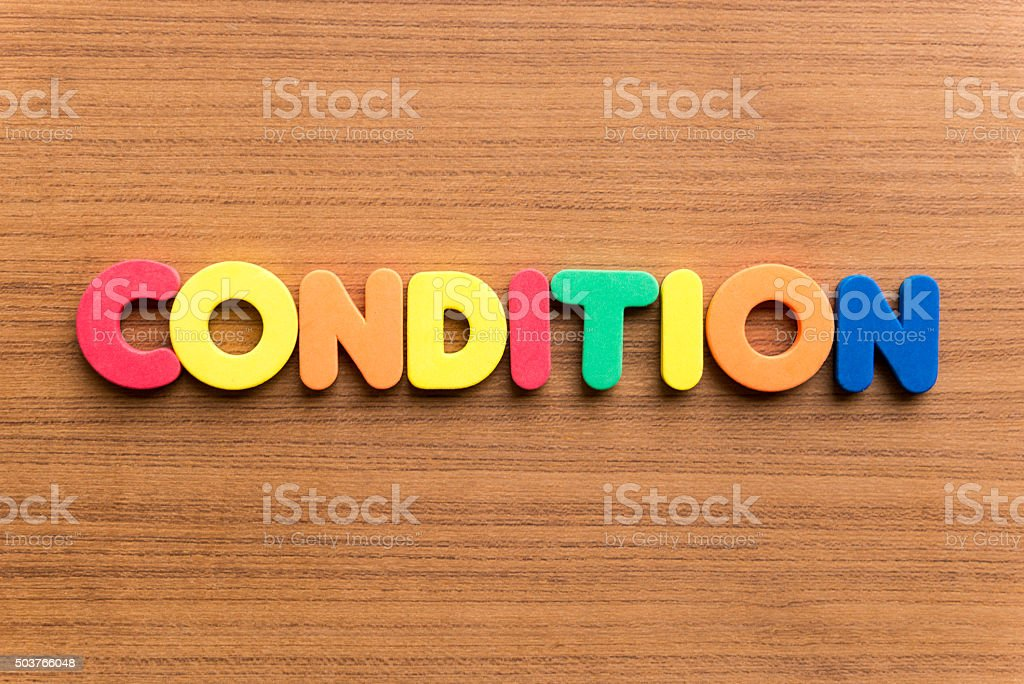 condition colorful word stock photo