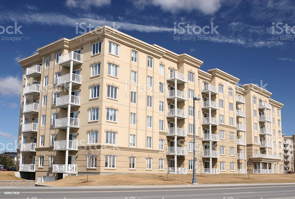 Condo Building Exterior royalty-free stock photo