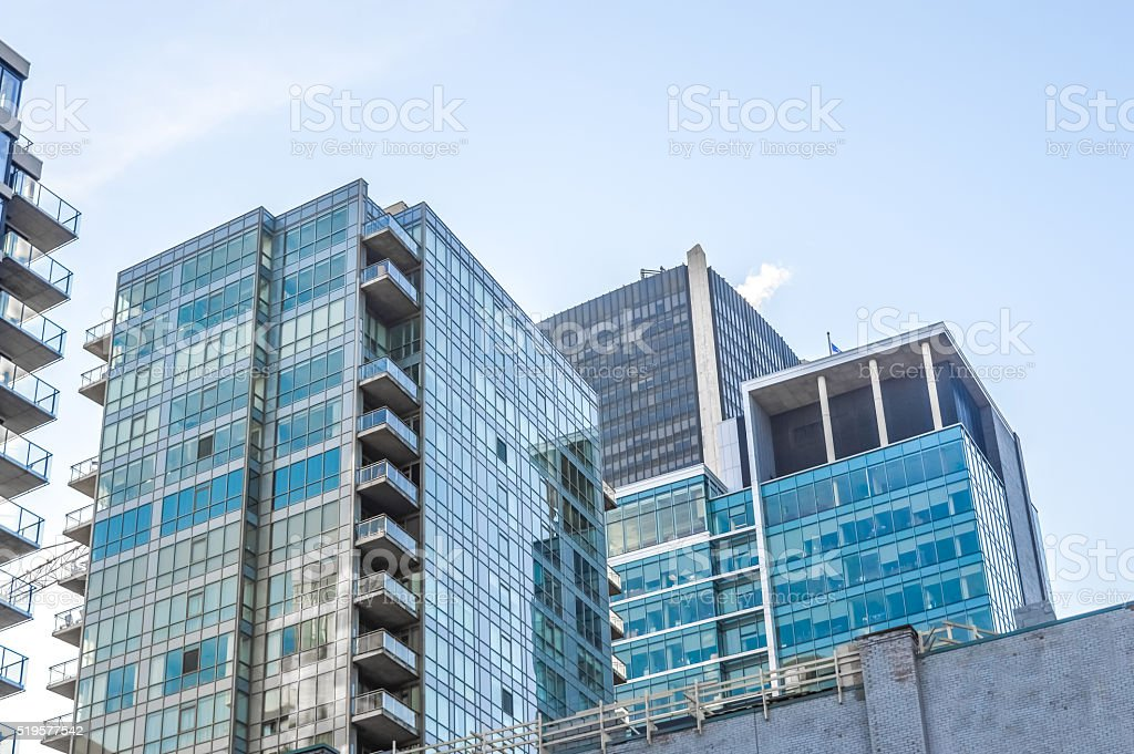 Condo buildings in downtown stock photo