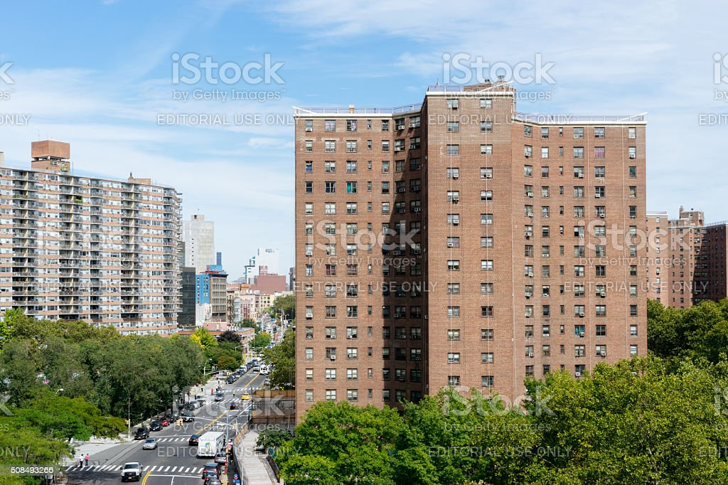 Condo Buildings in New York, USA stock photo