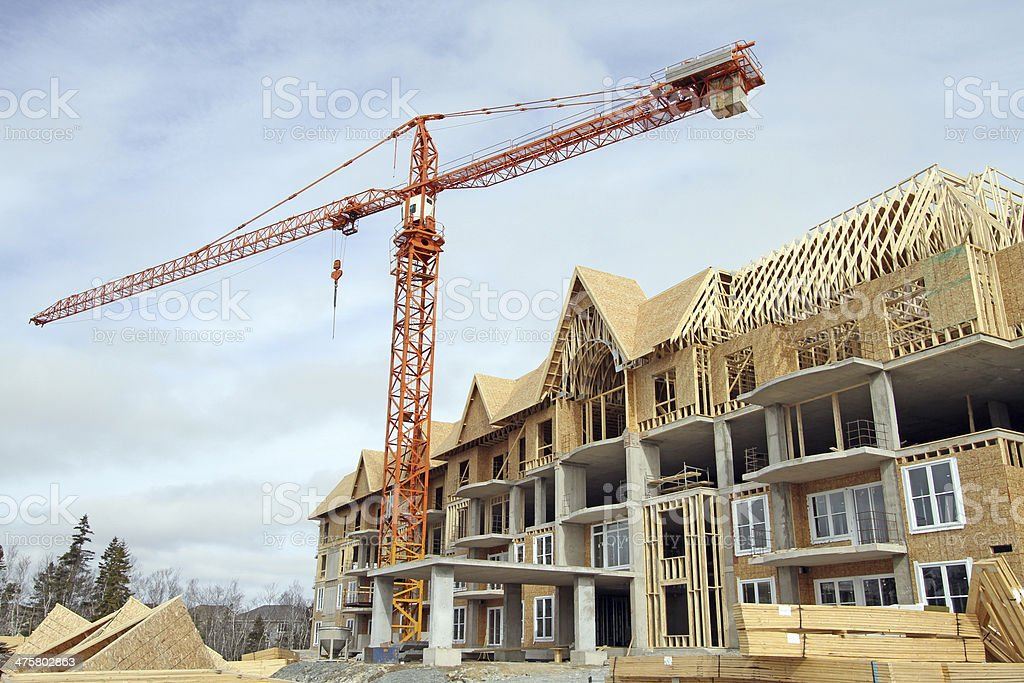 Condo Construction royalty-free stock photo