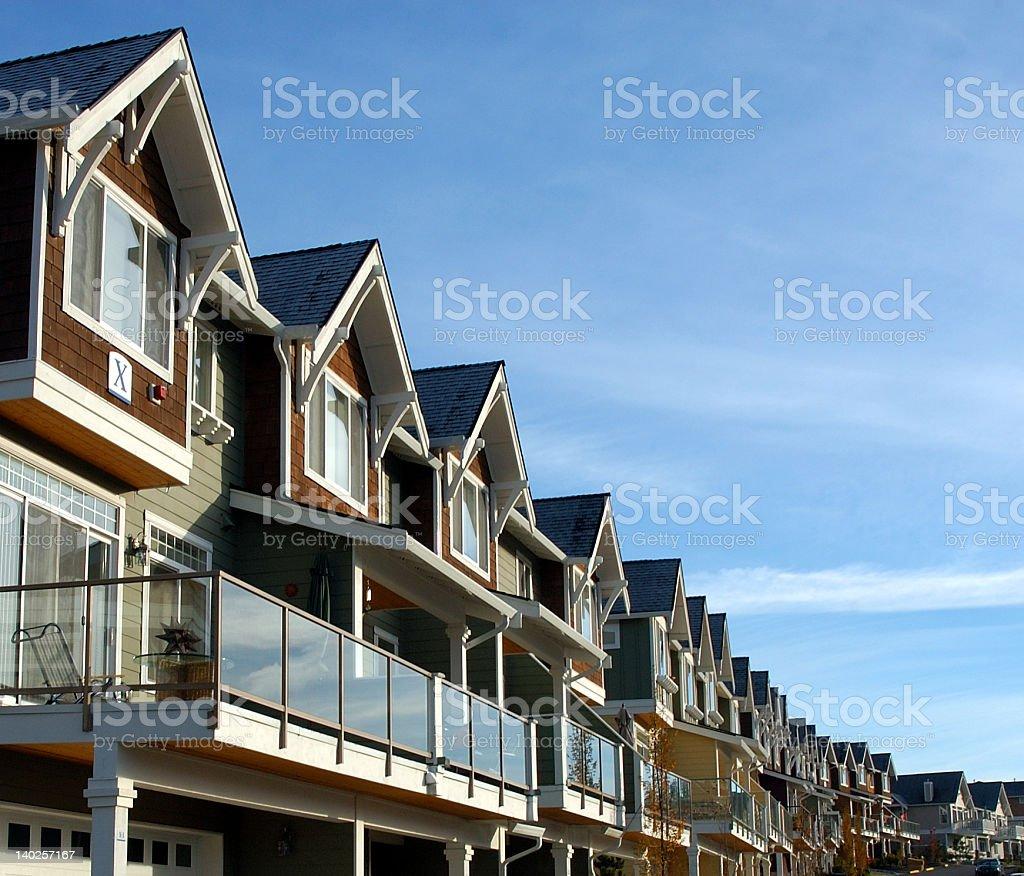 Condo homes royalty-free stock photo
