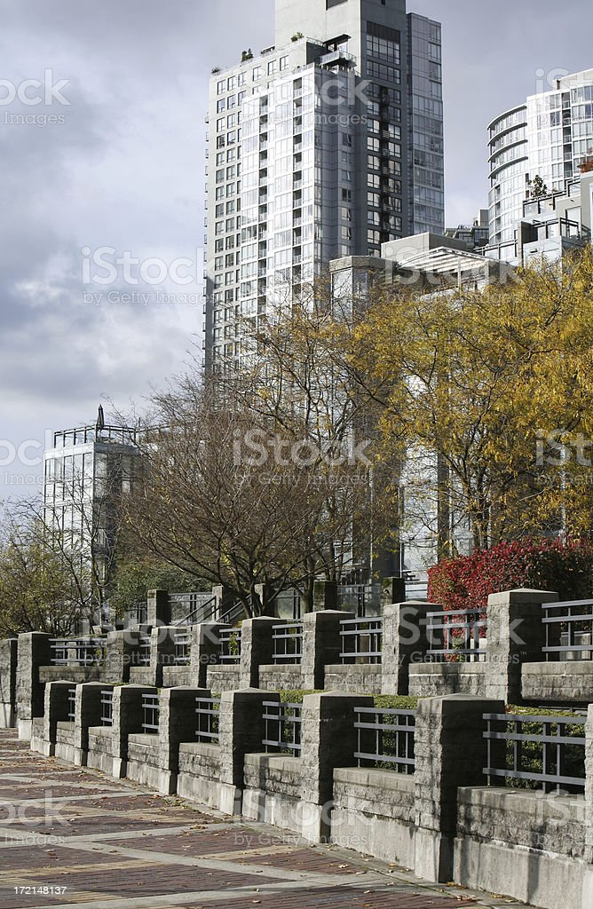Condo Living in Vancouver's Yaletown royalty-free stock photo