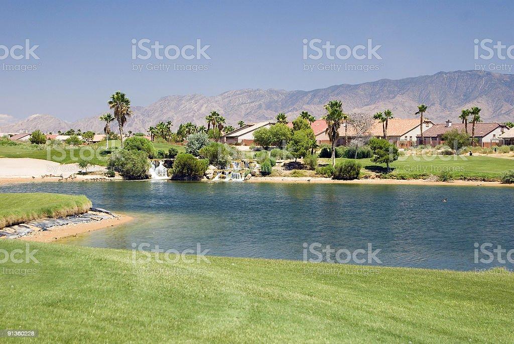 Condo on Golf Course royalty-free stock photo