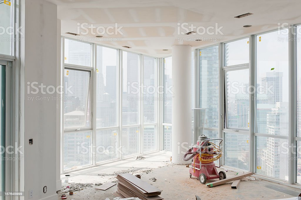 Condo Under Construction stock photo