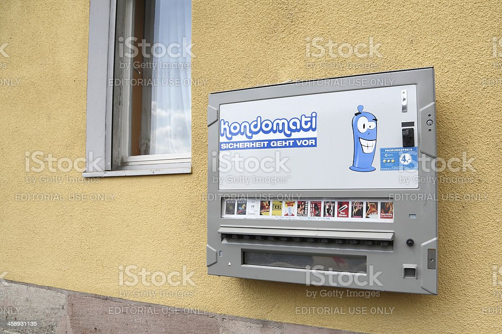 condom automat in Germany stock photo