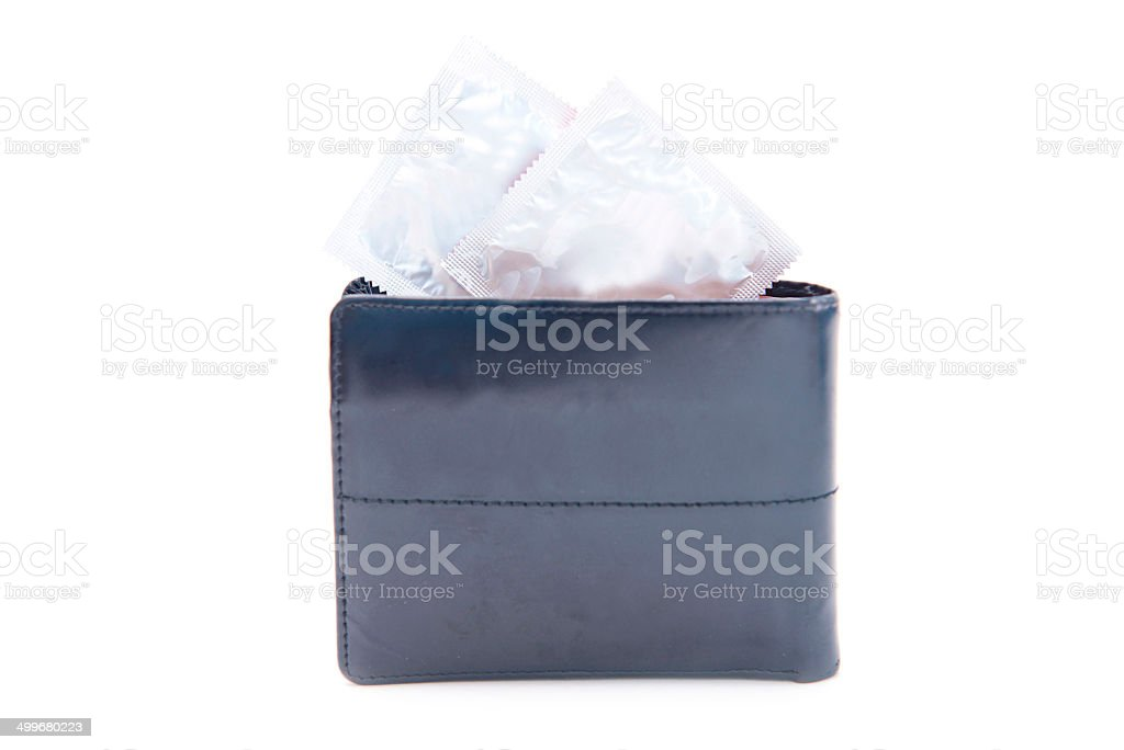 condom in wallet royalty-free stock photo