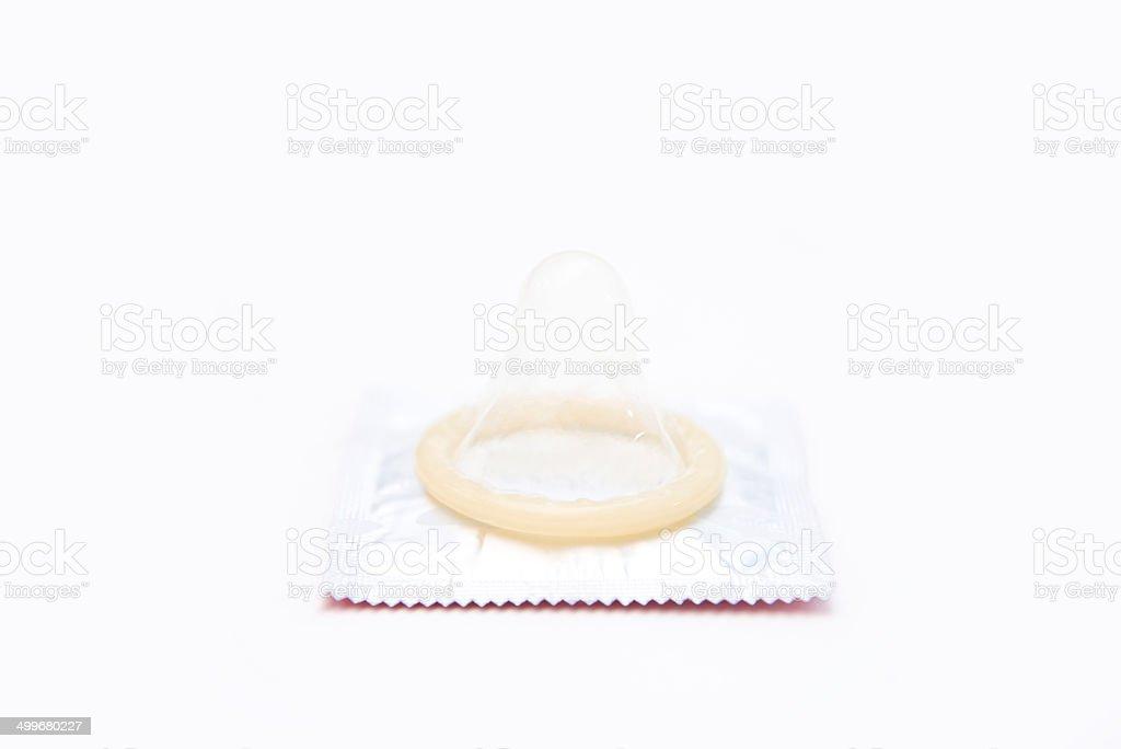 condom isolated on white royalty-free stock photo