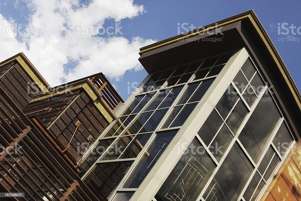 Condominium Architecture Window Facade royalty-free stock photo