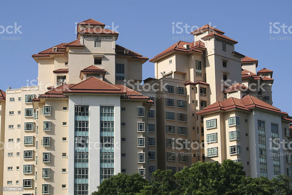 Condominium Block in Singapore royalty-free stock photo