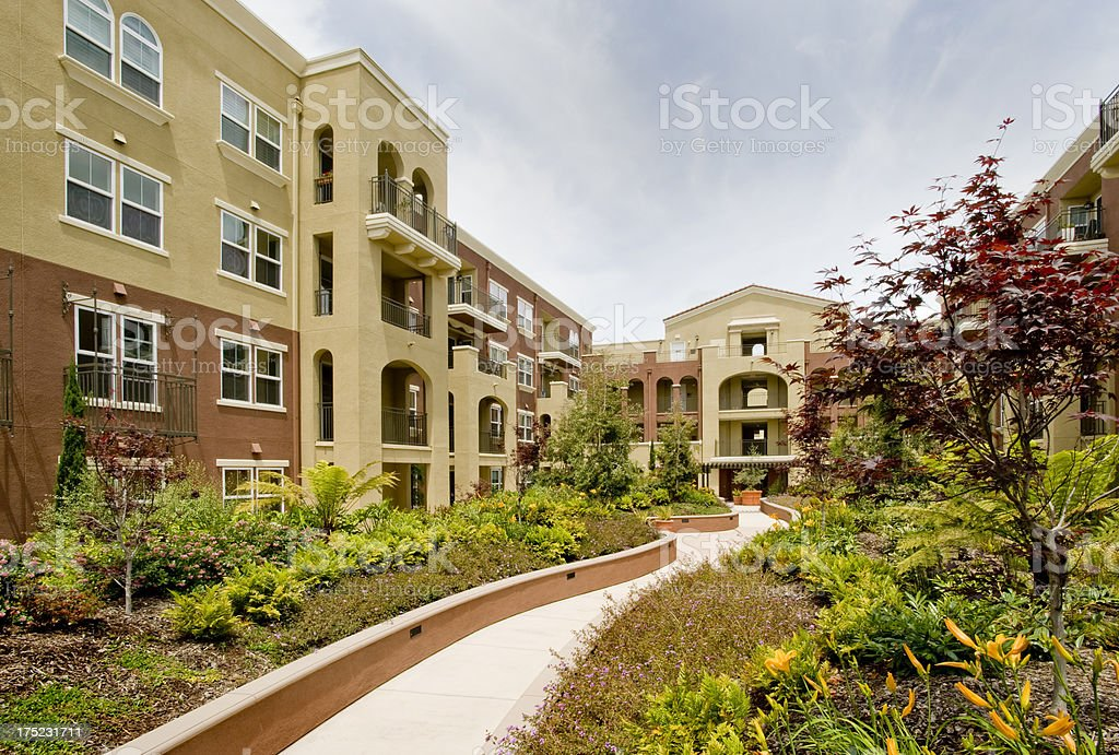 Condominium Building, California stock photo
