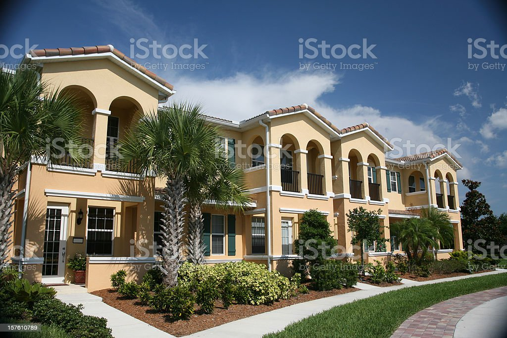 Condominium Complex in the Tropics stock photo