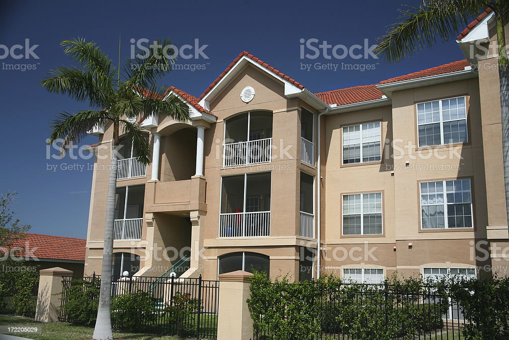 Condominium Complex royalty-free stock photo