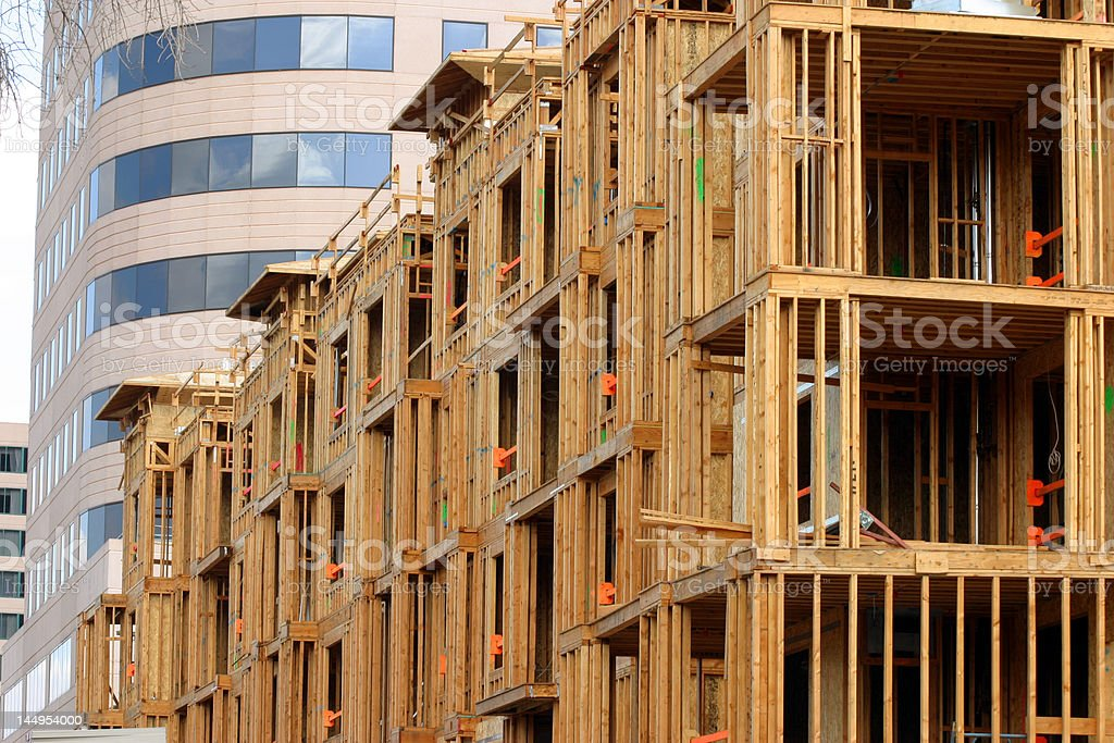Condominium construction royalty-free stock photo