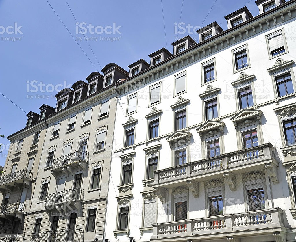 condominium luxury hotel fassade view stock photo