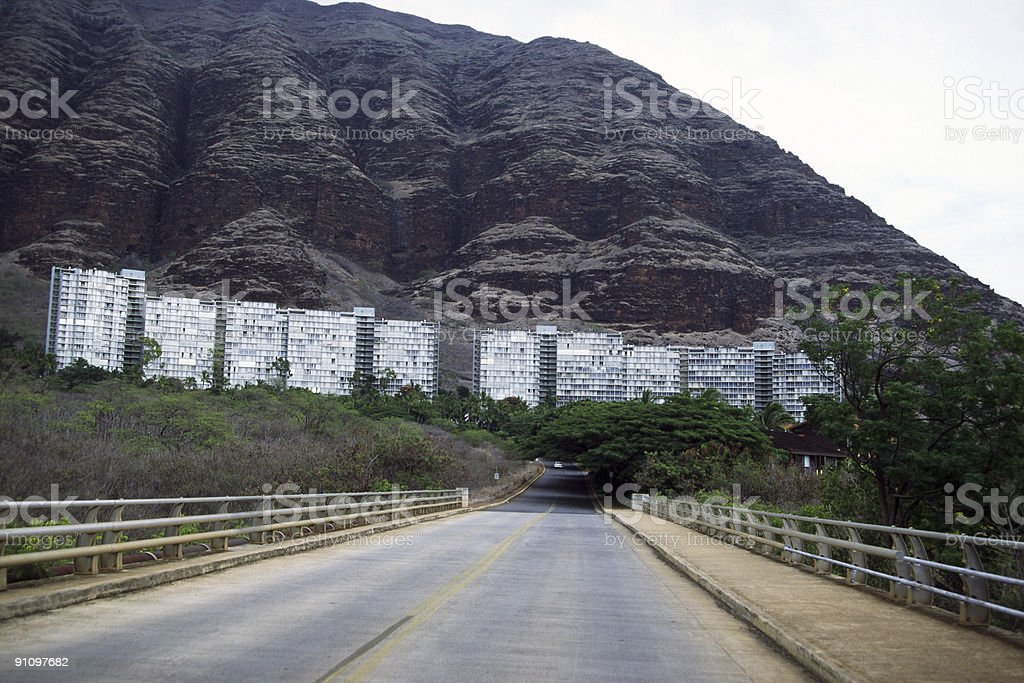 Condominium near a cliff royalty-free stock photo
