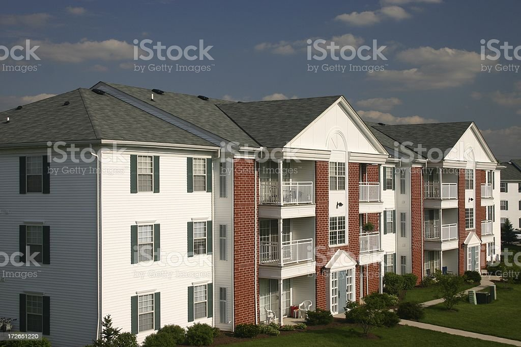 Condominium near Cleveland, Ohio stock photo