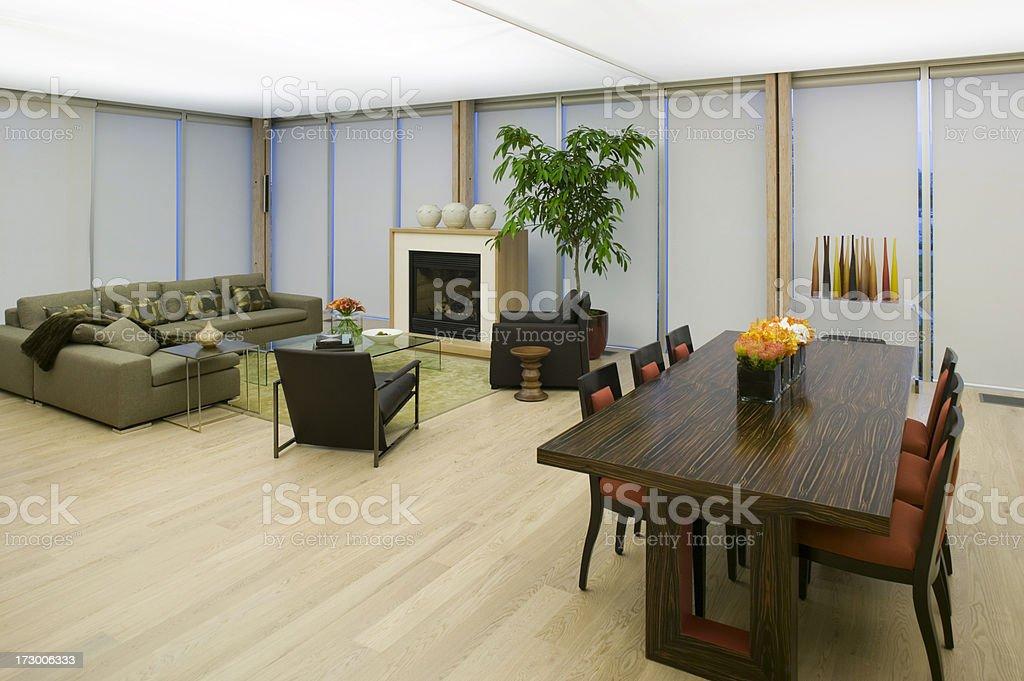 condominium show home contemporary living room royalty-free stock photo
