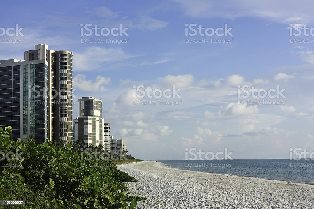 Condominiums Along The Florida Coast stock photo