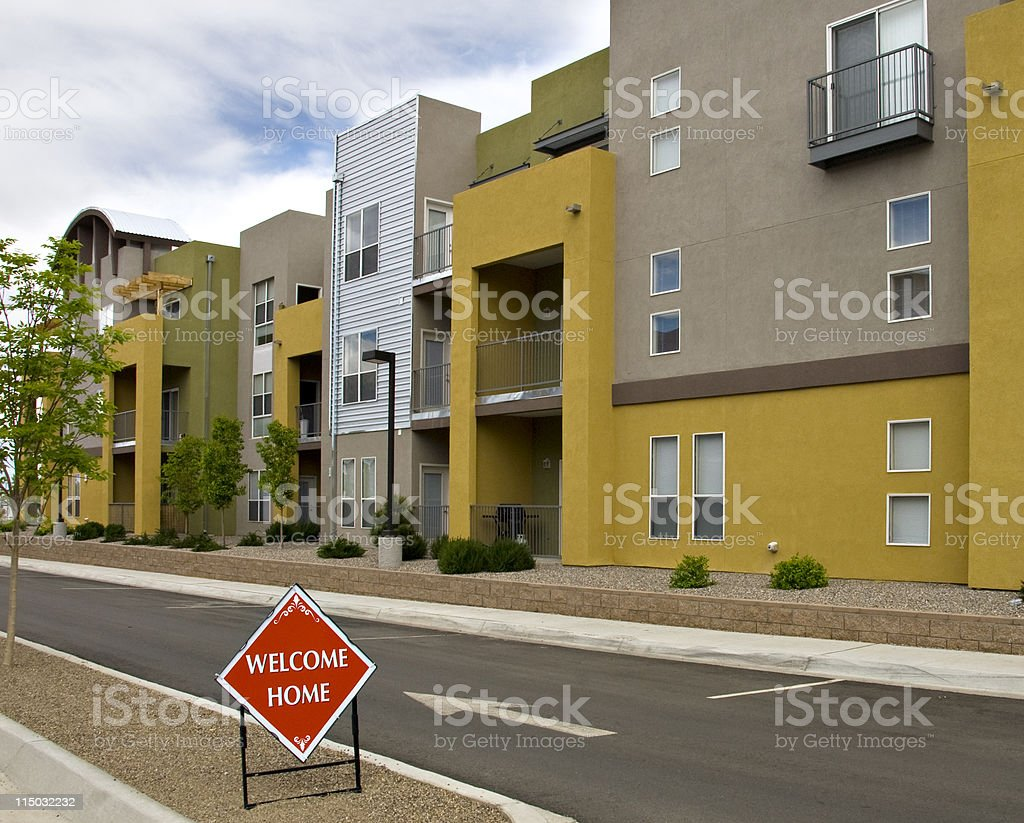Condominiums, Apartments and Urban Housing royalty-free stock photo