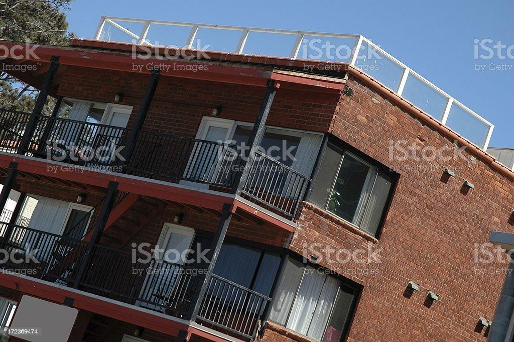 Condominiums at an angle stock photo
