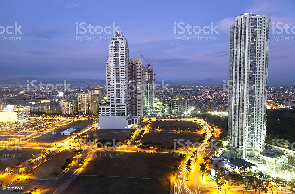 Condominiums Metro Manila-Philippines royalty-free stock photo