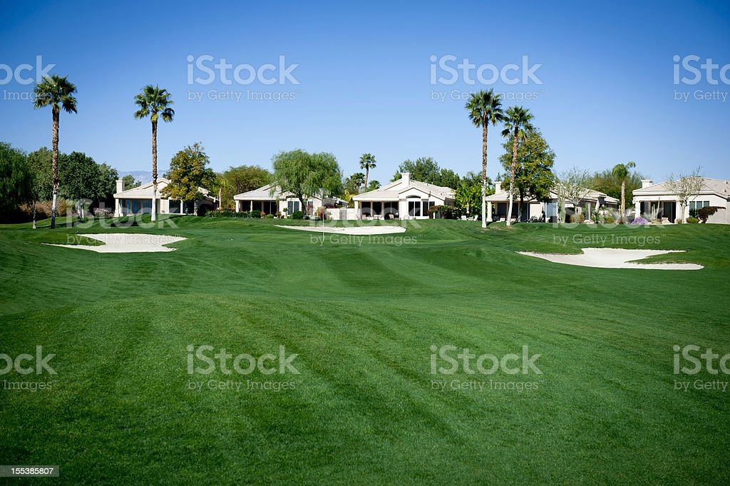 Condominiums on a Golf Course royalty-free stock photo