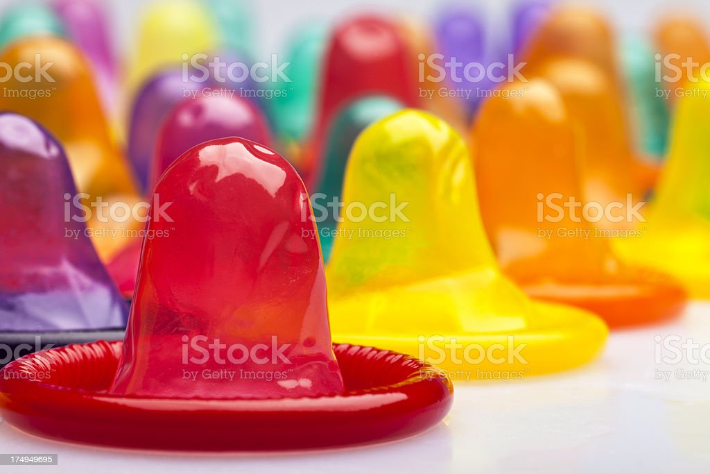 Condoms Macro royalty-free stock photo