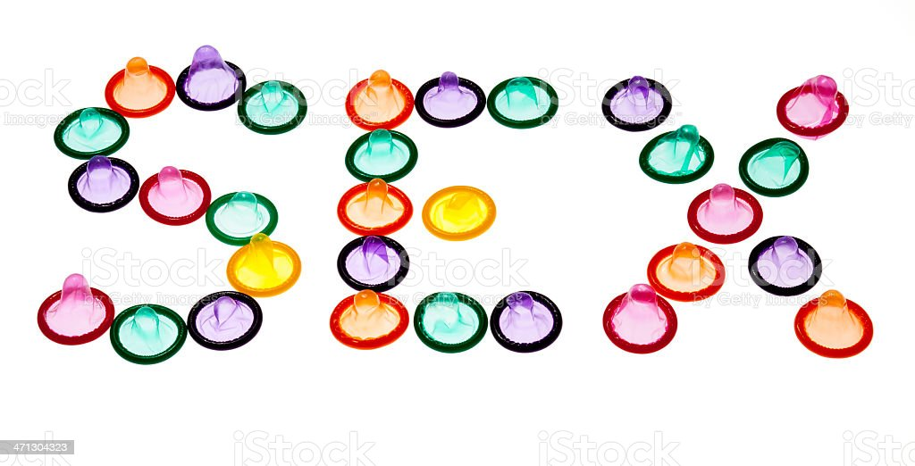 Condoms Spell Out Sex royalty-free stock photo