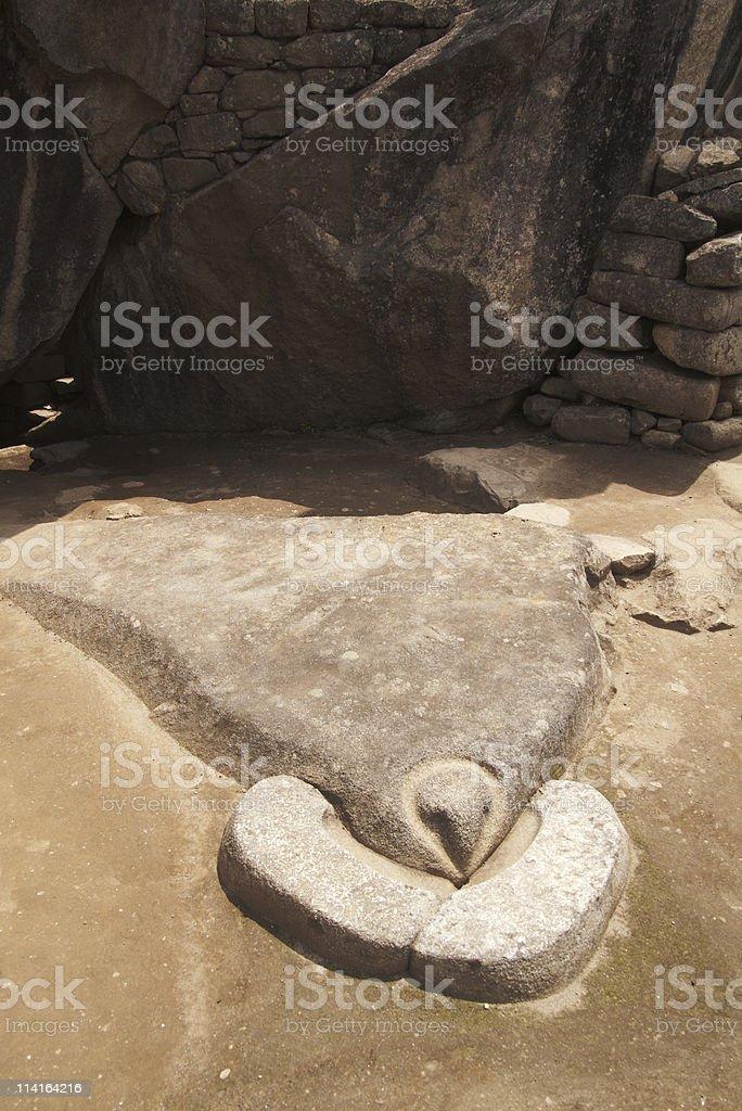 Condor Temple in Machu Picchu stock photo