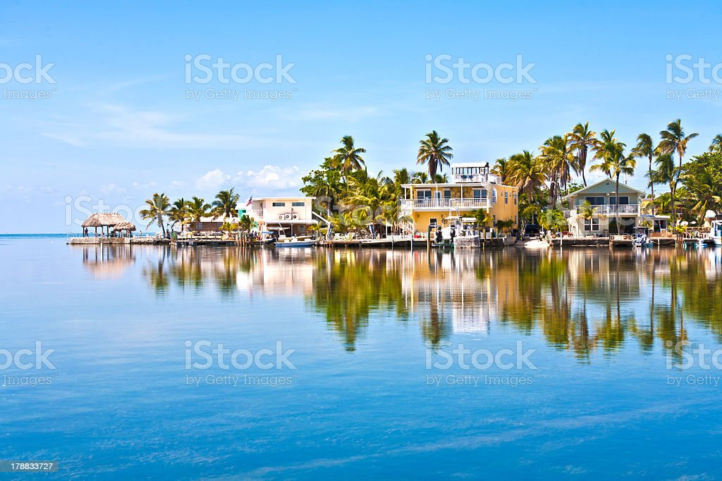 Condos across the ocean in the Keys stock photo