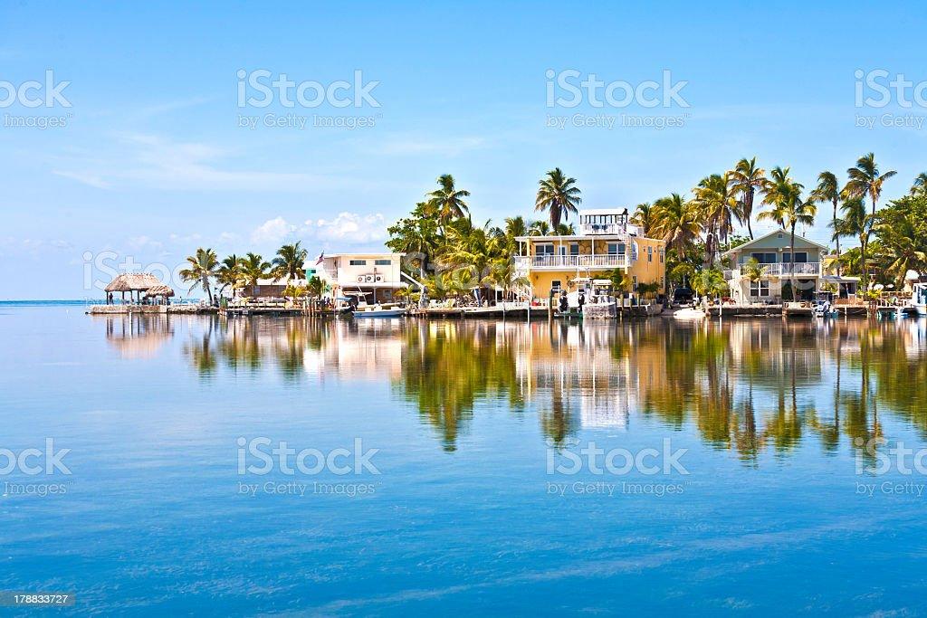 Condos across the ocean in the Keys stock photo