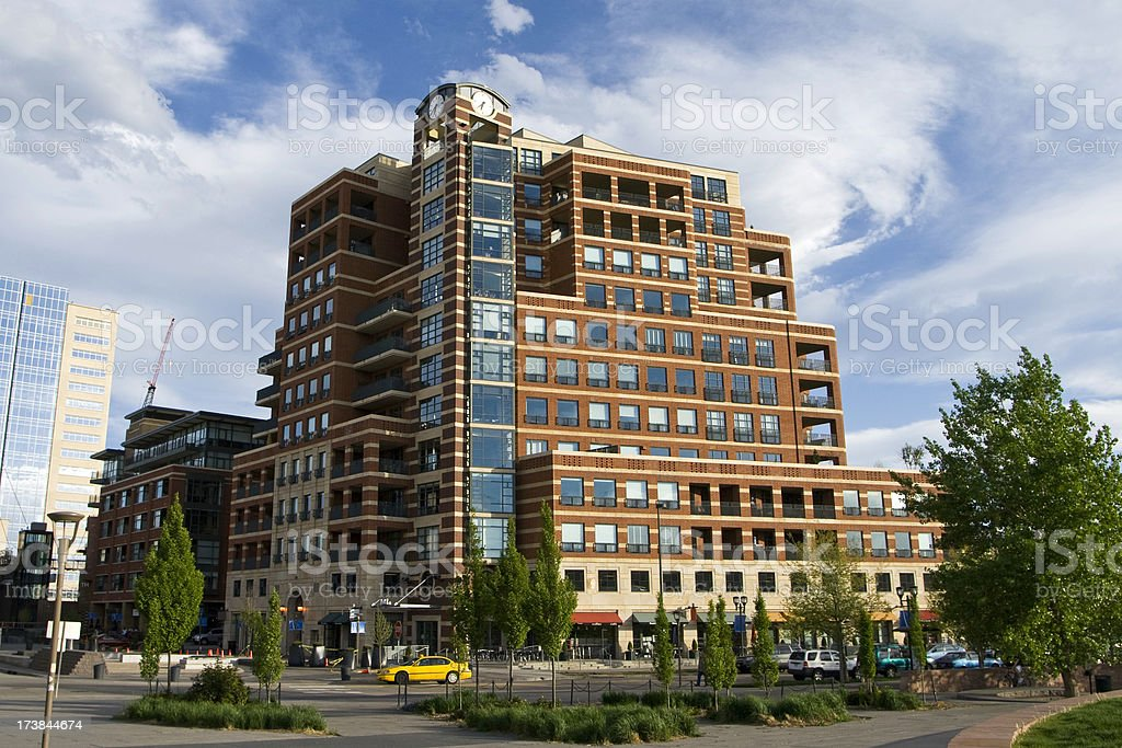 Condos and Businesses royalty-free stock photo