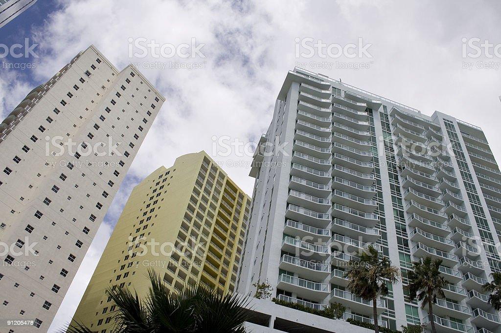 Condos in Miami royalty-free stock photo