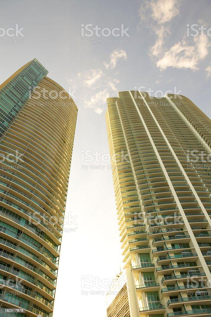 Condos Miami Beach royalty-free stock photo