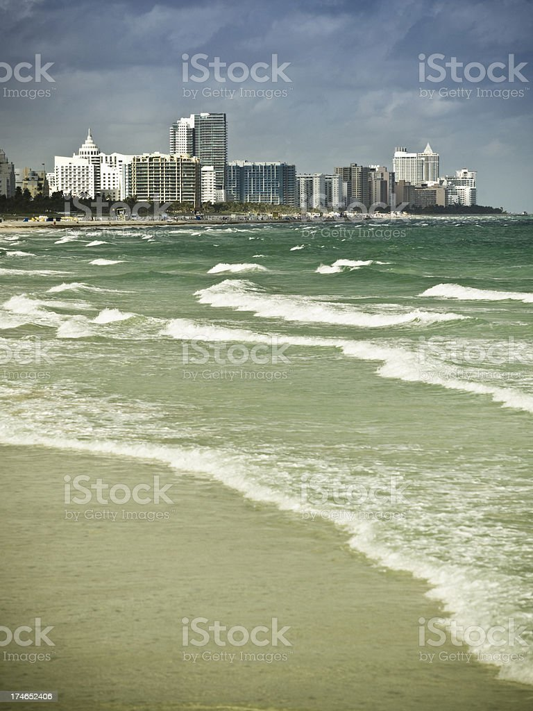Condos on South Beach Miami royalty-free stock photo