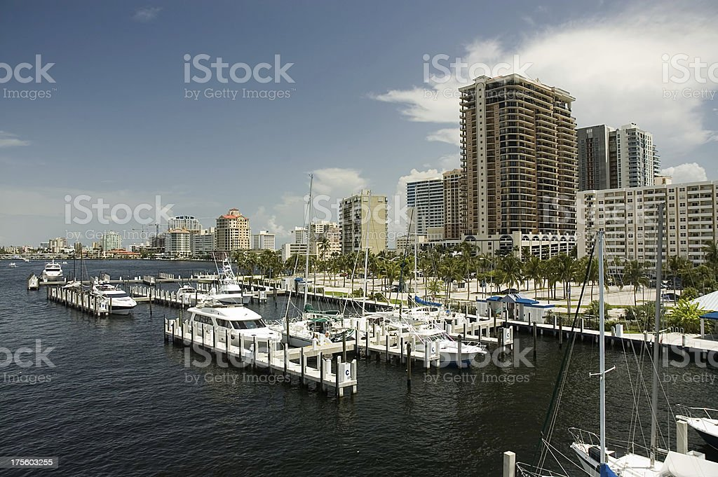 Condos on the water royalty-free stock photo