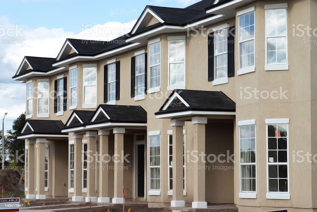 Condos under construction royalty-free stock photo