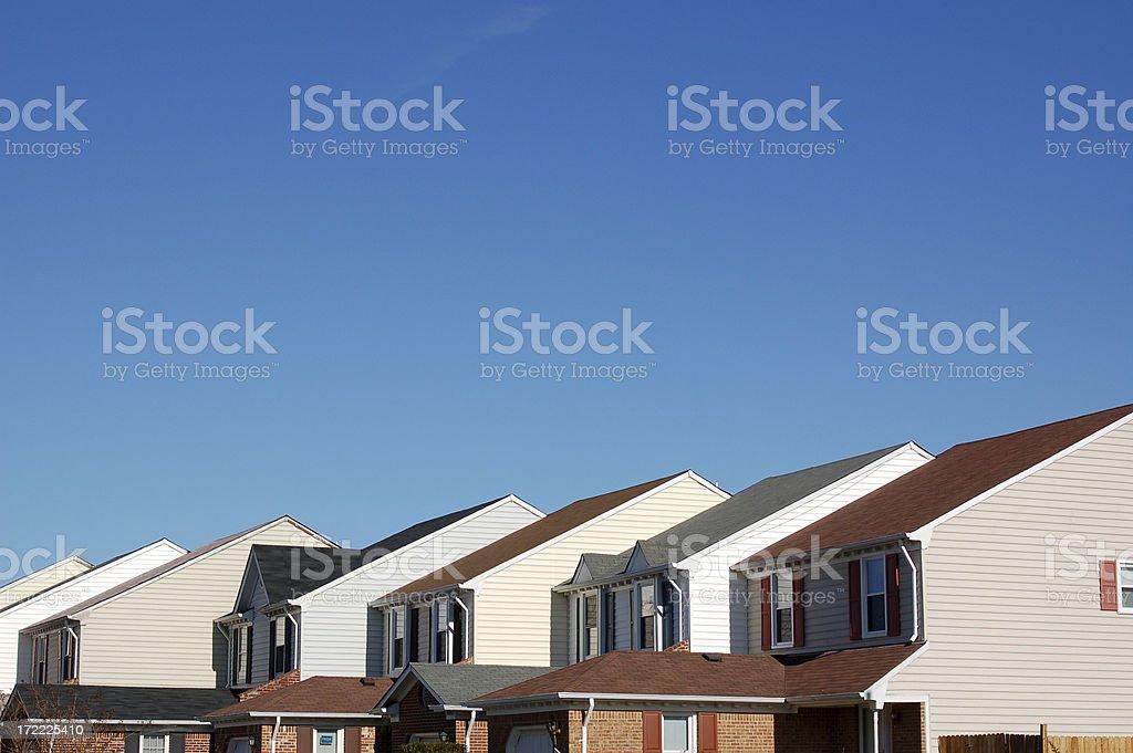 Condo/Townhouse Row stock photo