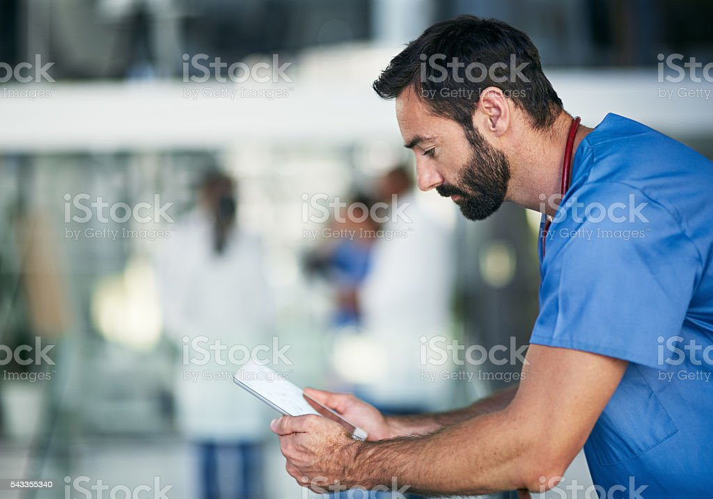 Conducting a virtual consultation stock photo