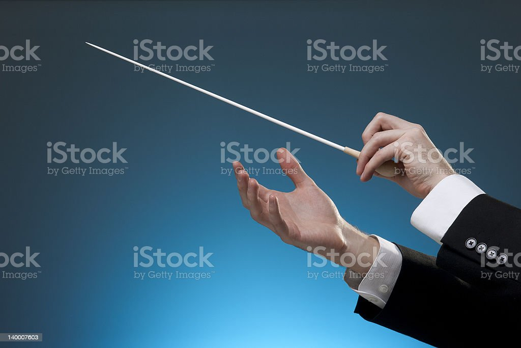Conductor stock photo